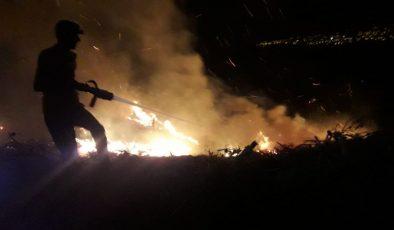 Erzin'de korkutan yangın!