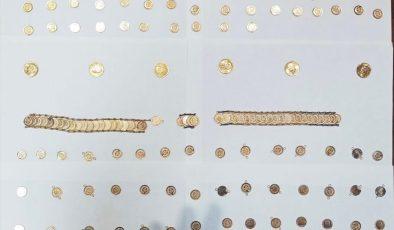 Gramajları düşürülmüş altınlara el konuldu
