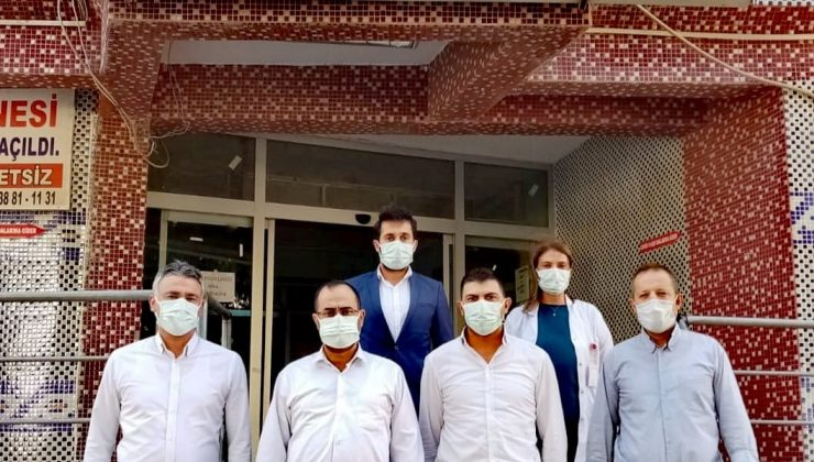 Hambolat'tanSamandağ Hastanesine ziyaret