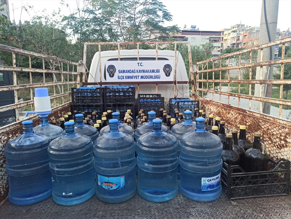 Hatay'da 567 litre sahte içki ele geçirildi